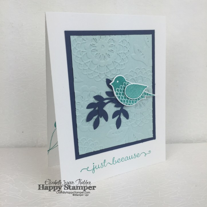 Stampin Up, Polka Dot Pieces, Bird Punch, Bird Builder Punch, Lovely Lace, A Dozen Thoughts