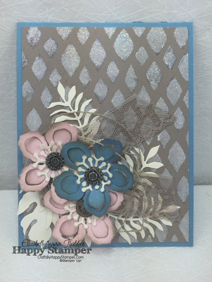Stampin Up, Happy Patterns, Botanical Builders, Antique Brads, Mixed Media
