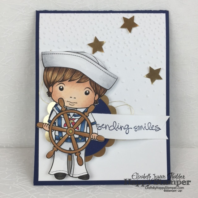 La La Land, Stampin Up, copics, Sailor Luka, Softly Falling, Greatest Greetings