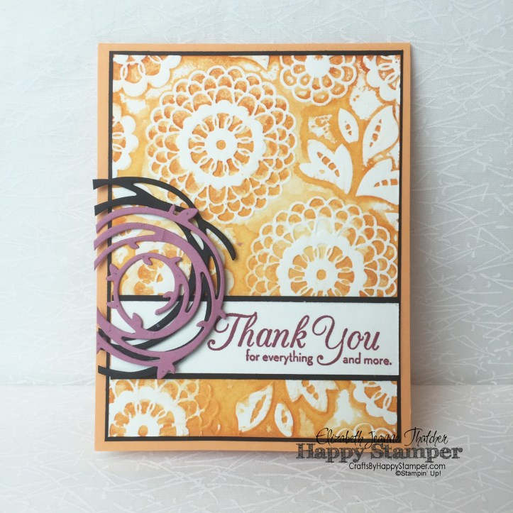 Stampin Up, CYCI#124, One Big Meaning, Lovely Lace, Swirly Scribbles Thinlits
