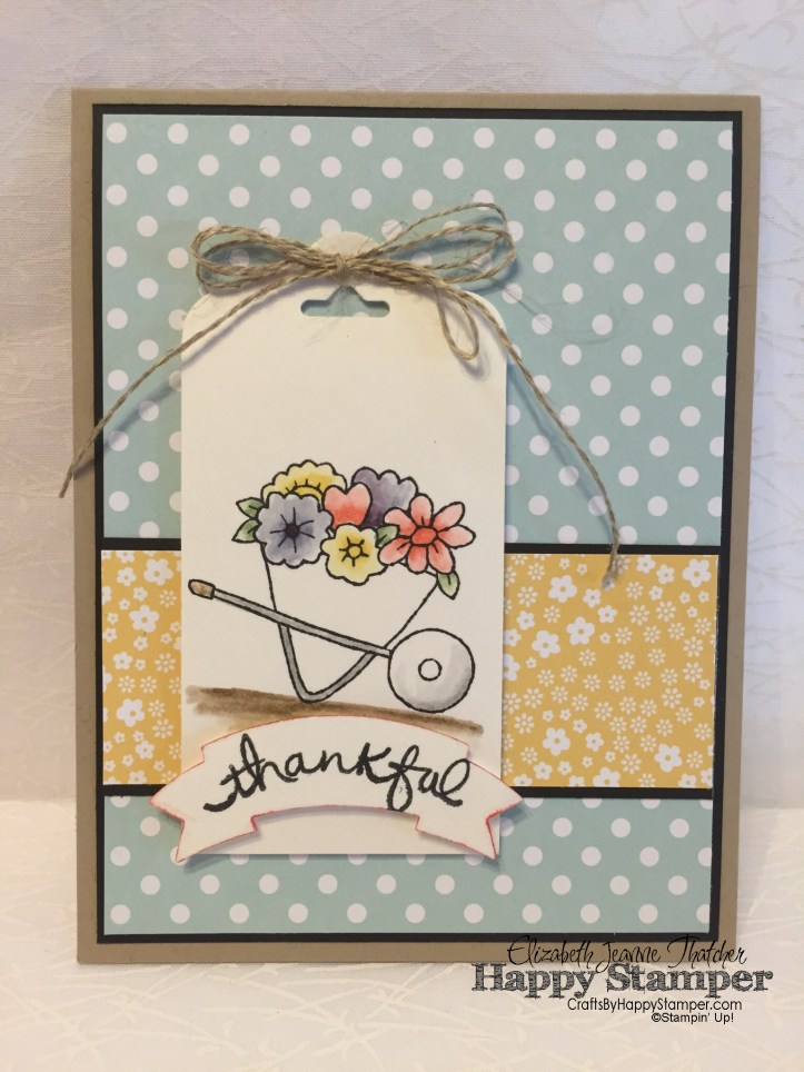 Stampin Up, You're Sublime, Watercolor, Endless Thanks, Banner Punch, crafts