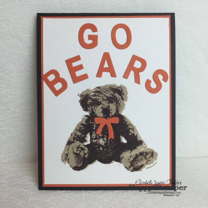 Stampin Up, Baby Bear, Little Letters, Mercer, School Price, cyci