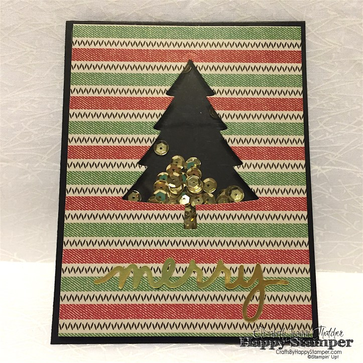 Stampin Up, Christmas Greetings, Perfect Pines, Shaker, CYCI, DIY, CRAFTS