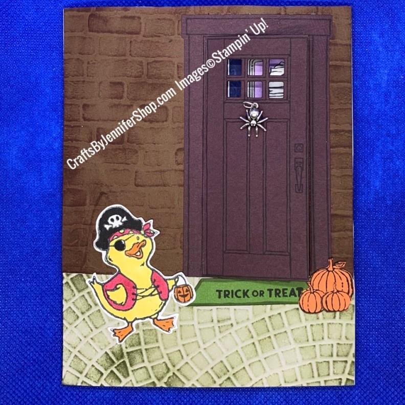 duck trick or treating trick or treat door spider door knocker pirate duck halloween duck duck dressed as pirate trick or treat