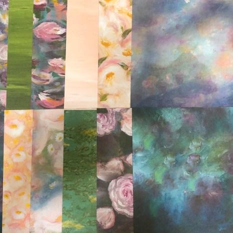 perennial essence sampler, impressionist, floral, lily pad, stampin up