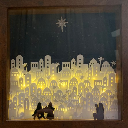 light box, shadow box, Bethlehem, nativity