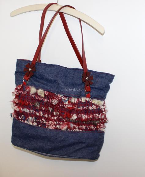 denim and knitted tote craftsbyjennyskip.com
