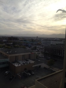 The view of SLC from my hotel window