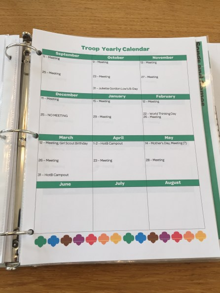 I have an overall yearly plan . . .