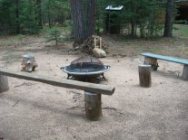 Outdoor Fire pit at Craftsman Lodge