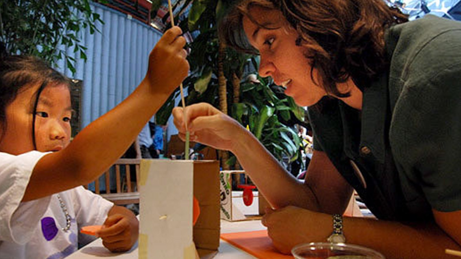 """Karen Wilkinson, the Tinkering Studio's director, says that without hands-on experience to """"solidify abstract concepts,"""" real learning in science cannot take place."""