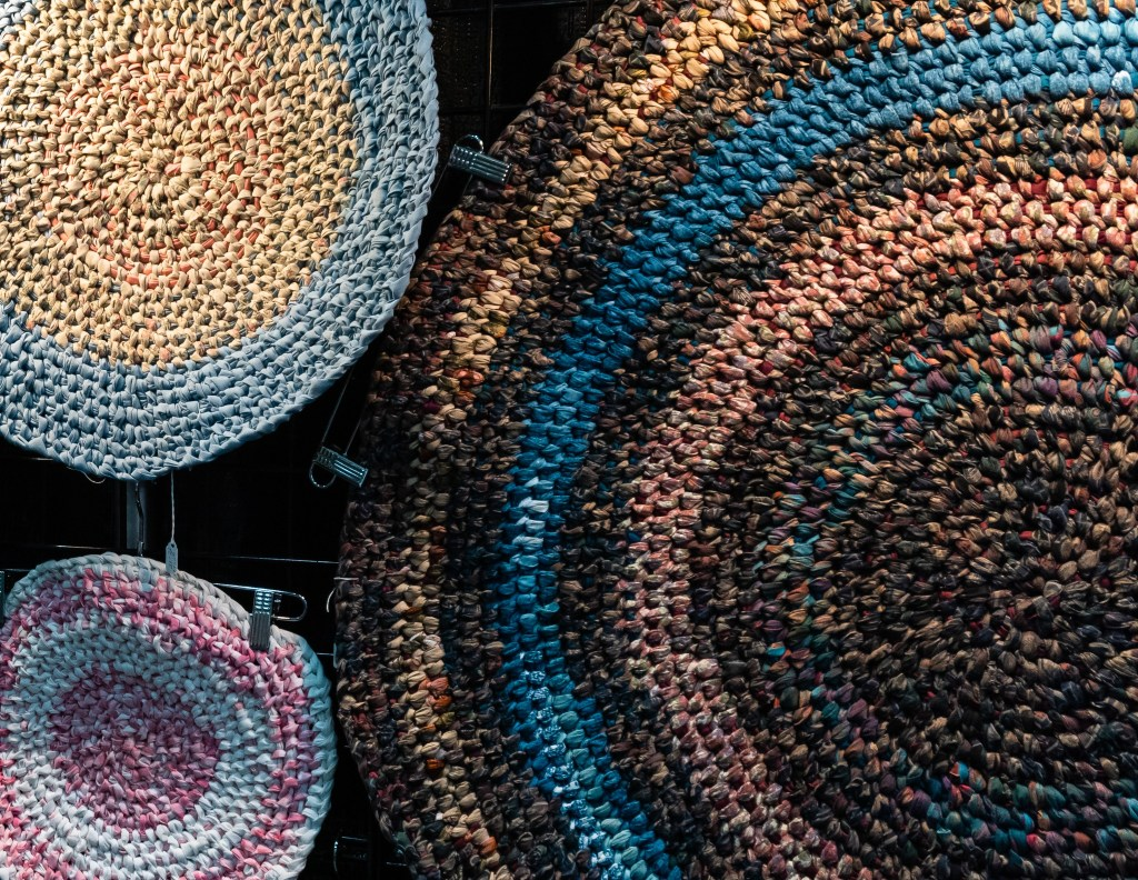 Hand Braided Circular Rugs of Various Sizes and Colors