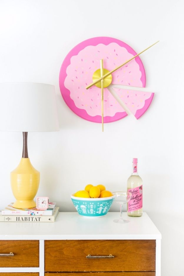 Sliced Cake Wall Clock