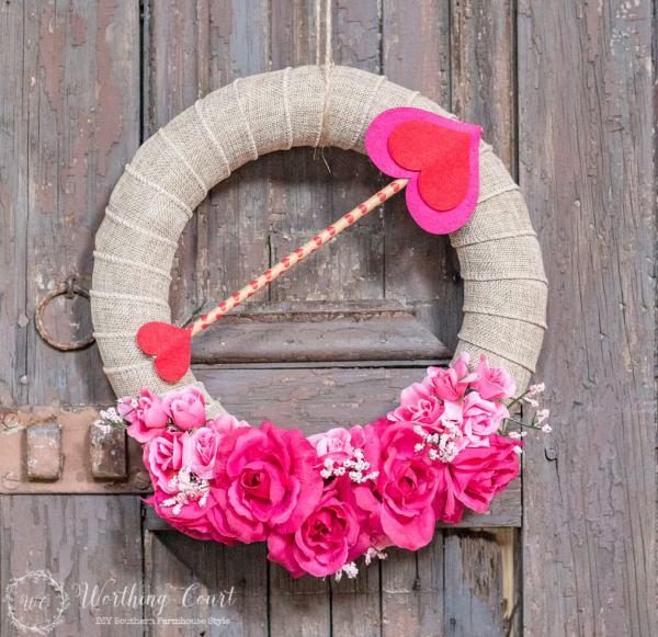valentine wreath craft idea for valentines day - 1012×830