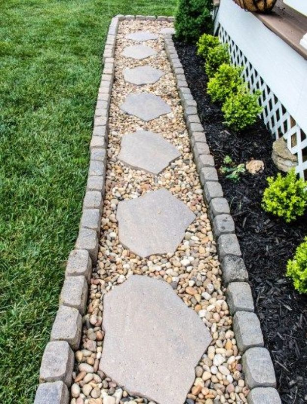 16 Amazing DIY Garden Path and Walkways Ideas - Style ... on Patio And Path Ideas  id=61182