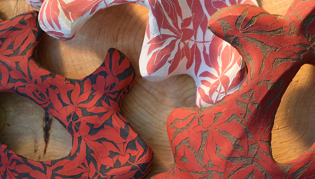 Abstract ceramic shapes.