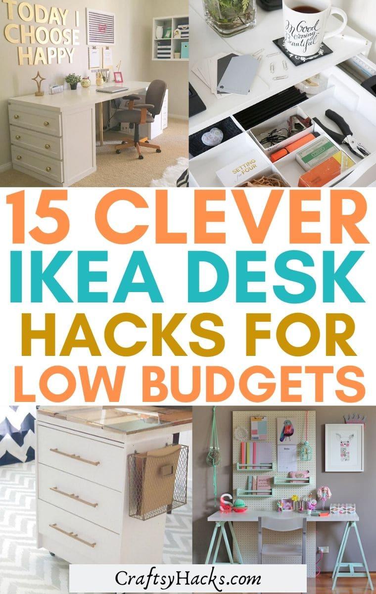 15 Super Clever Ikea Desk Hacks Craftsy Hacks