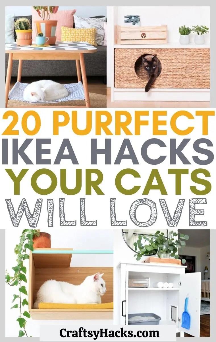 20 creative ikea hacks for cats