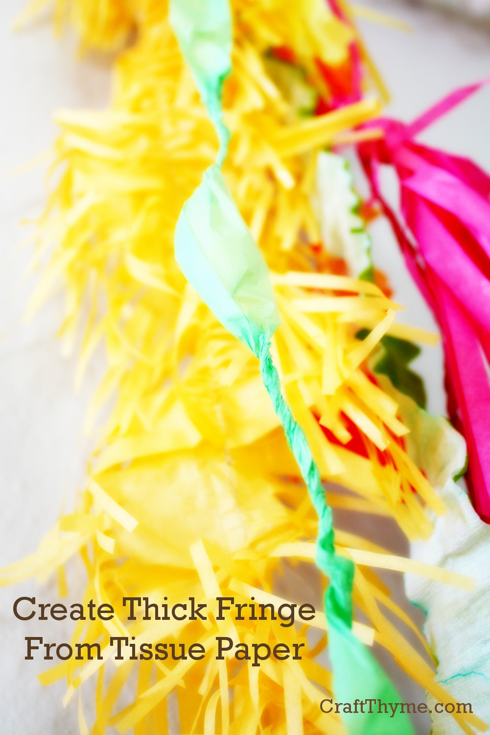How To Make Thick Tissue Paper Fringe Craft Thyme