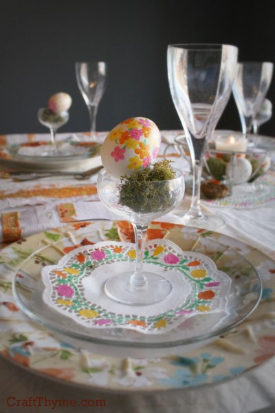 DIY Floral Table Setting