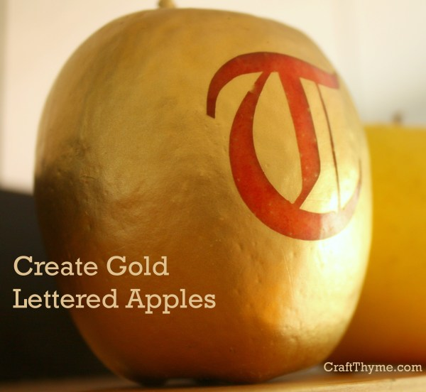 Creating a gold apple with lettering