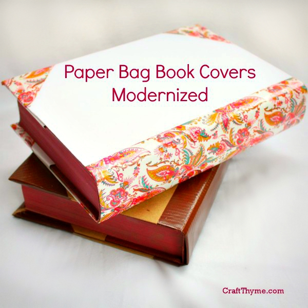 DIY book covers from paper bags with a modern twist.