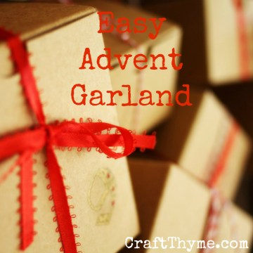 Tutorial on creating an easy Advent Calendar Garland