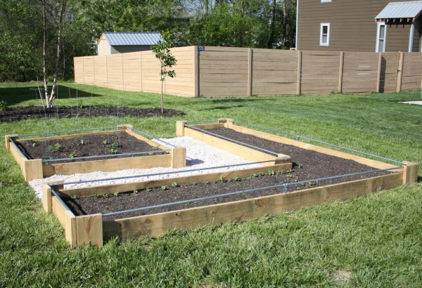 DIY raised bed or wooden planter boxes
