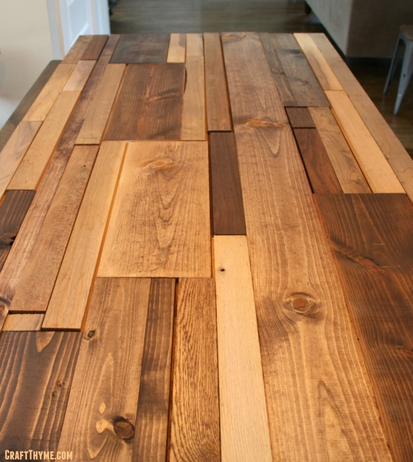 Staining wood for salvaged headboard