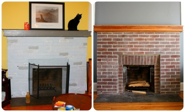 How to strip paint from a brick fireplace