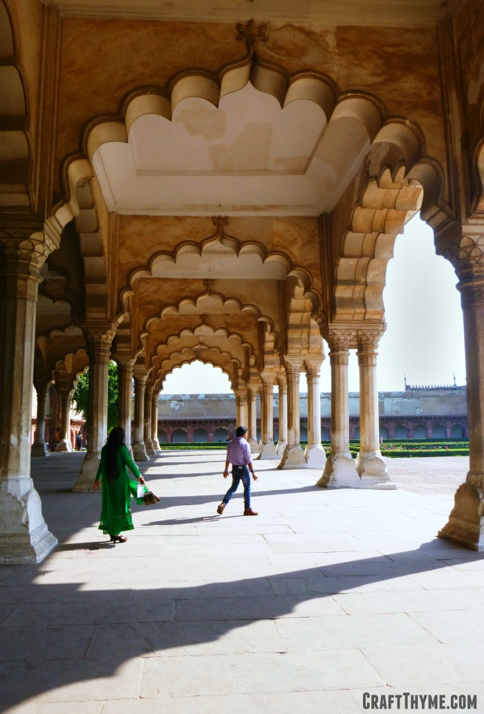 Our trip to Holi in India: Red Fort Courtyard in Agra