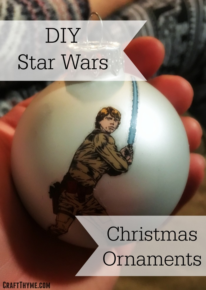 Read this tutorial to make cheap Star Wars Christmas Ornaments at home.