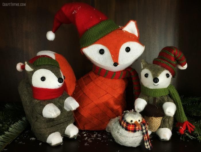 Felt Christmas Animal Vignette