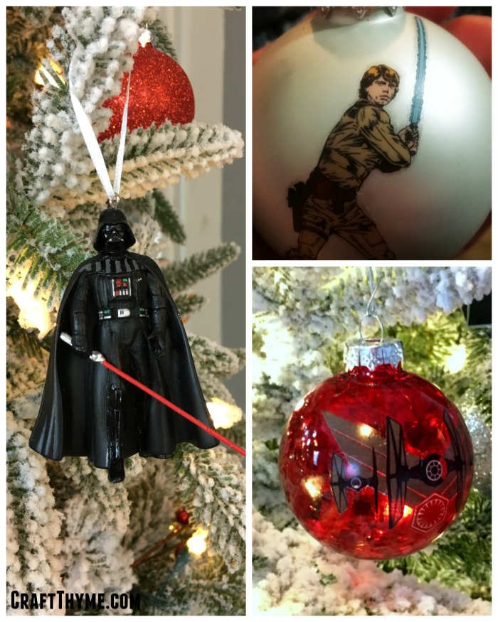 Ornaments for a Star Wars themed Christmas Tree