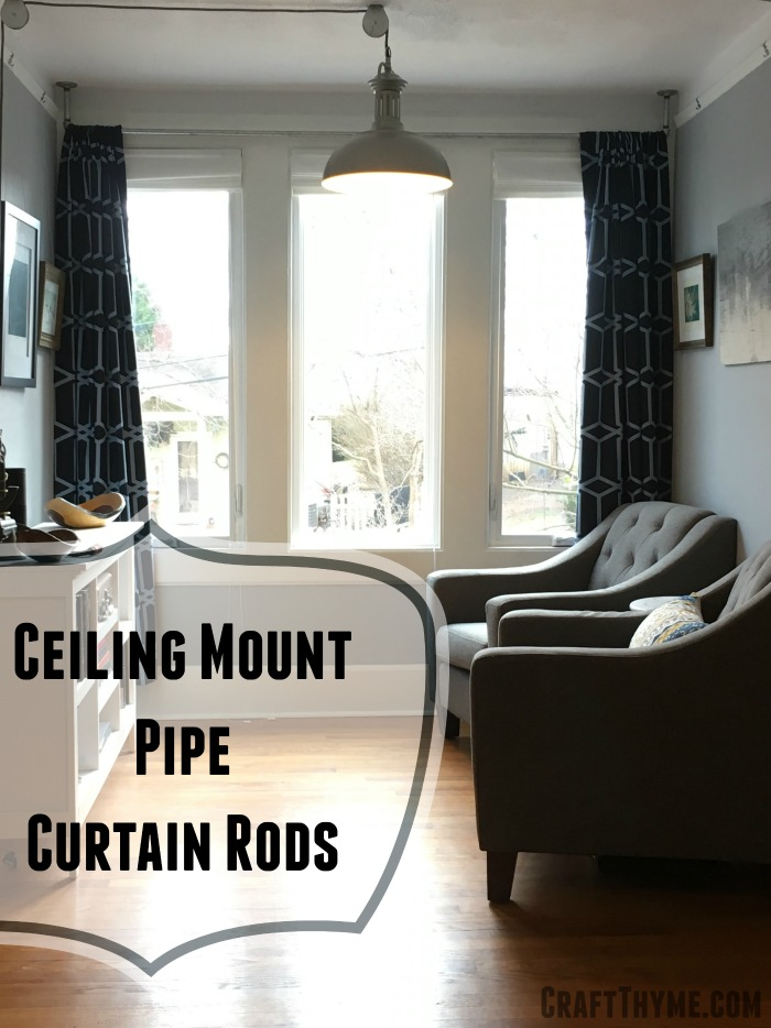 How to Make Ceiling Mount Pipe Curtain Rods