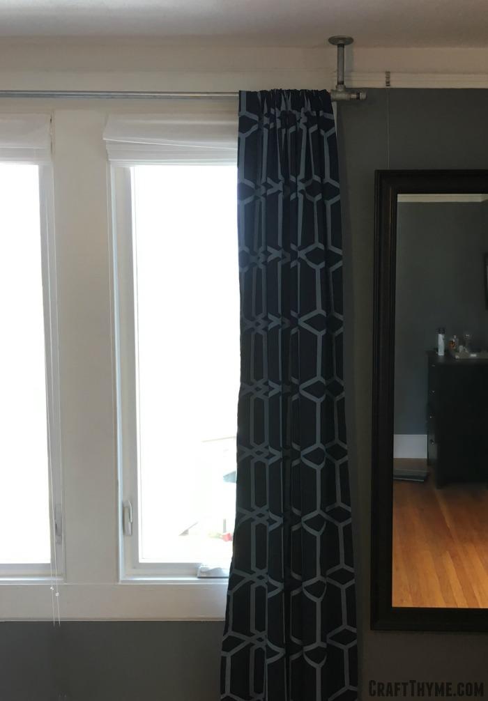 galvanized pipe curtain rods