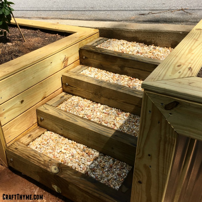How to Make Timber and Pea Gravel Stairs