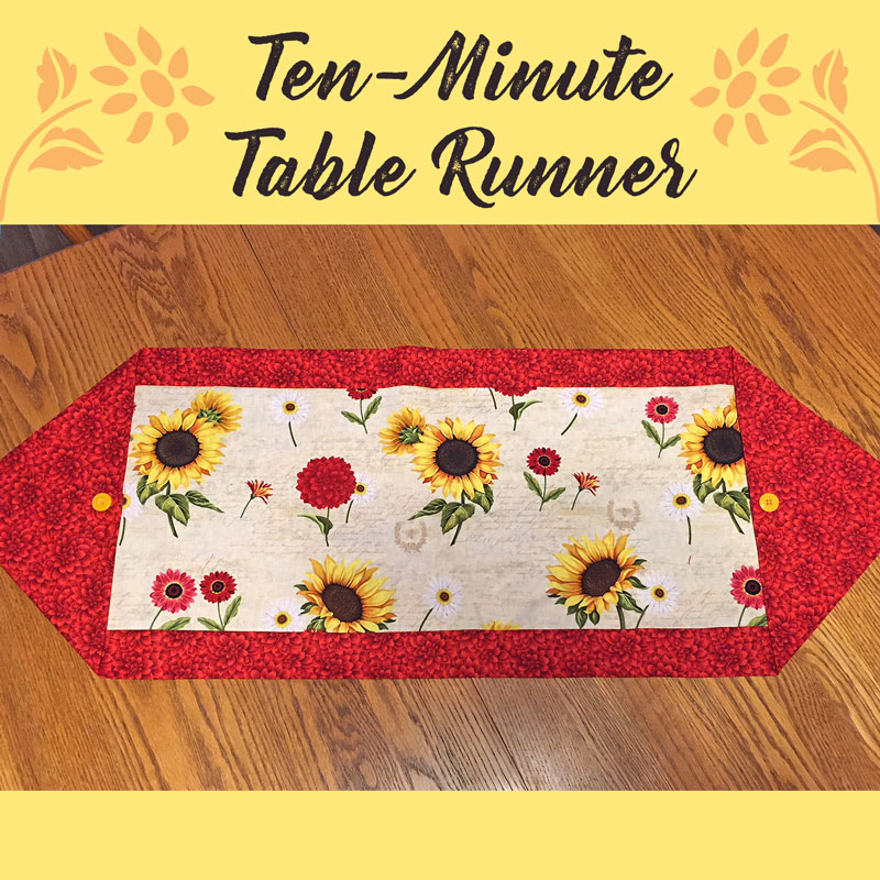 Ten Minute Table Runner Free Pattern