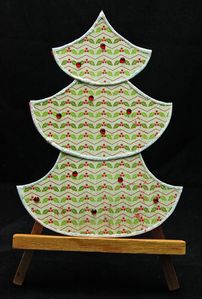 Authentique Christmas Tree Cards