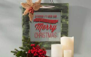 Merry Christmas Black Floating Frame