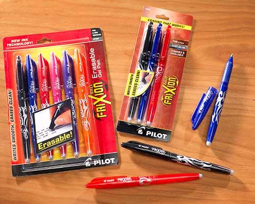 Frixion Erasable Marking Pens