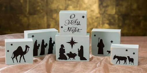 O Holy Night Nativity Block Set