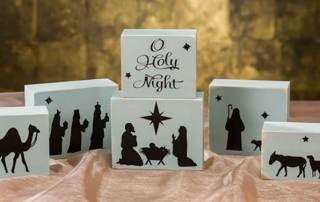 O Holy Night Nativity Block Set