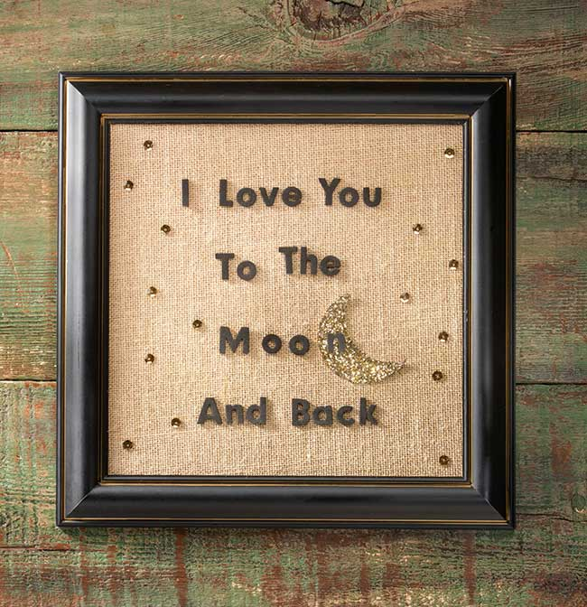 DIY Love You To The Moon and Back