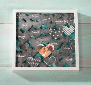 Chalkboard Heart DIY Shadow Box