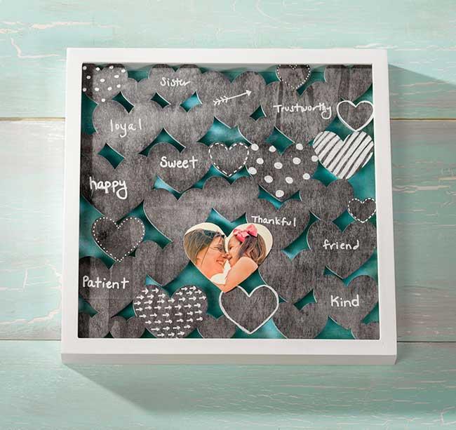 Chalkboard Heart DIY Shadow Box