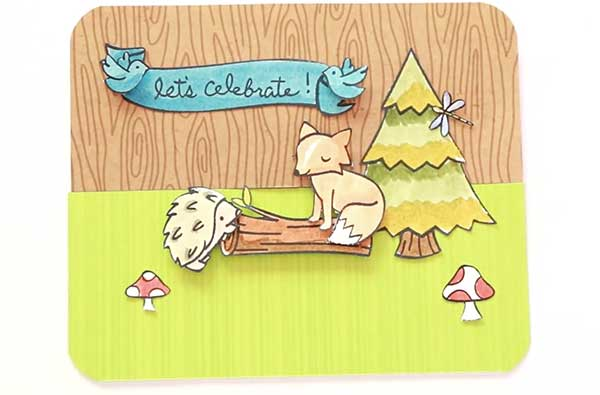 Lawn Fawn Critters in the Forest Card