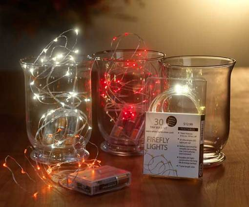 30 Count Firefly Lights Battery Operated