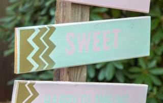Glamping Party Welcome Sign