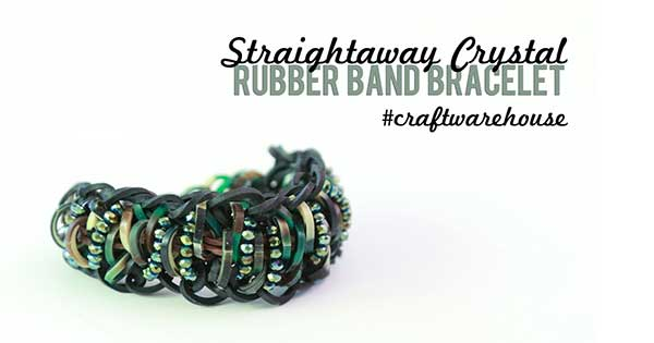 Straightaway Crystal Rubber Band Bracelet